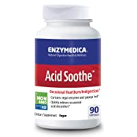 Enzymedica, Acid Soothe, Promotes Relief from Heartburn and Indigestion While Helping to Strengthen The Stomach Lining, Vegan, Non-GMO, 90 Capsules (90 Servings) (FFP)
