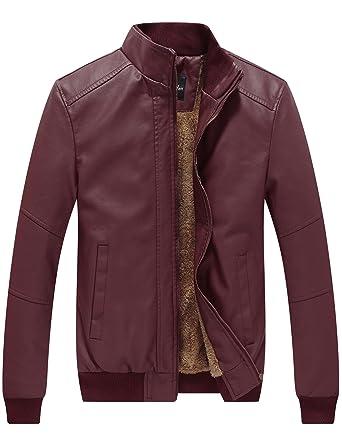 WenVen Men&39s Winter Fashion Faux Leather Jackets at Amazon Men&39s
