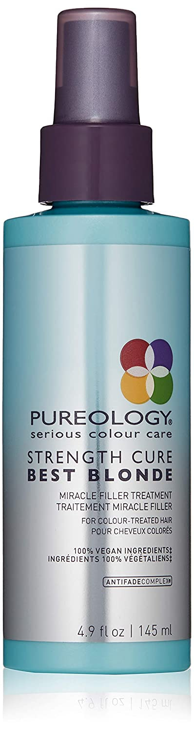 Pureology | Strength Cure Best Blonde Miracle Filler Hair Treatment | Restores Hair Cuticle | For Color Treated Hair | Vegan