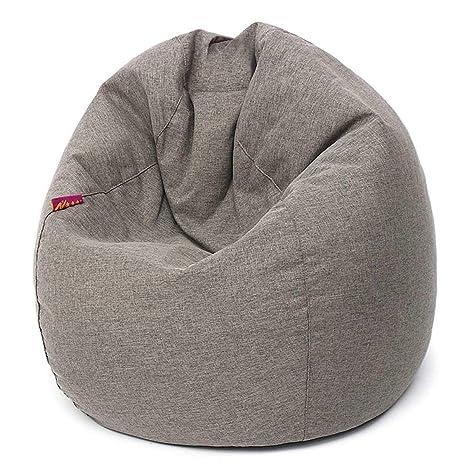 Amazon.com: Lazy Bean Bag Sofa Chair Linen Cloth Lounger ...