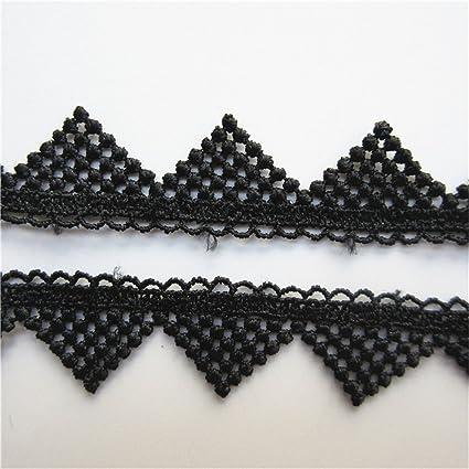 Qiuda 10 metros varios triángulo Picot patrones Crochet encaje borde Trim DIY costura Craft bordado de