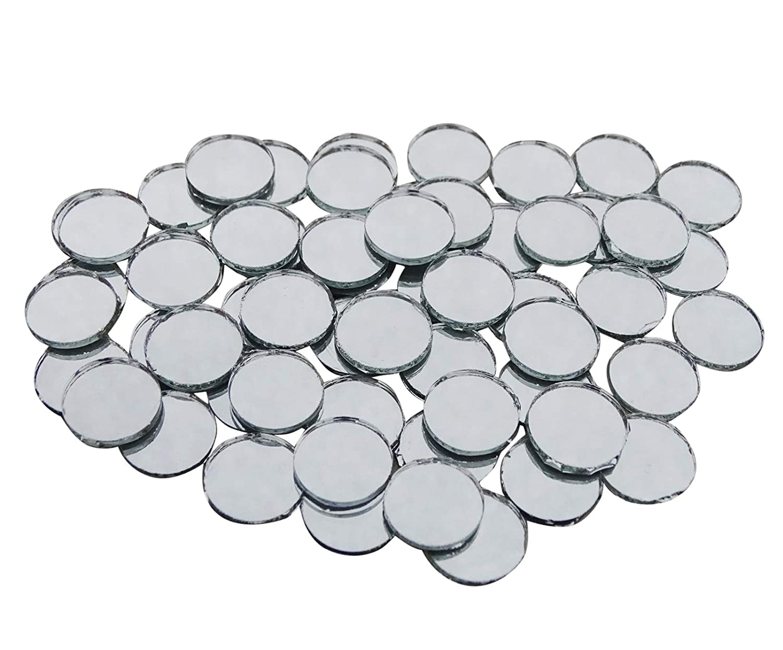 PEEGLI Mini Round 0.5 Circles Pollici Piccolo Vetro A Specchio Per Arts & Crafts Progetti, Framing, Decorazione 100 Pezzi Specchio Riflettente MR02
