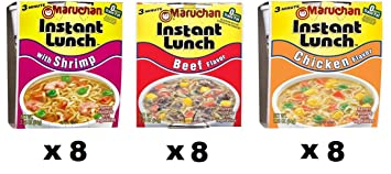 Amazon Com Maruchan Instant Lunch Variety Pack With Chicken Beef