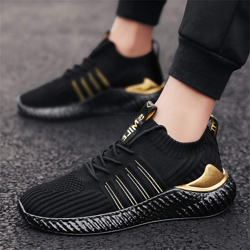 Zapatos De Cordones para Hombre Ligero Y Comodo Atletismo Calzado Net para Estudiante Zapatillas Unisex Adulto Deporte para Exterior De Running Asfalto Sneakers