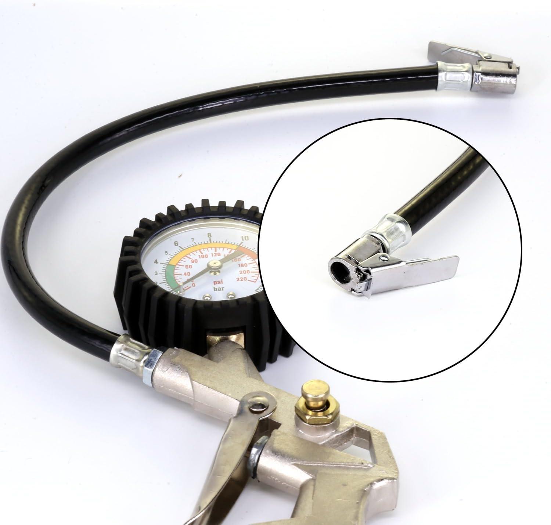 Neumático inflador Manómetro con Empuñadura Pistola 12V Compresor de aire Michelin 300psi Coche Bomba de Neumático Compresor