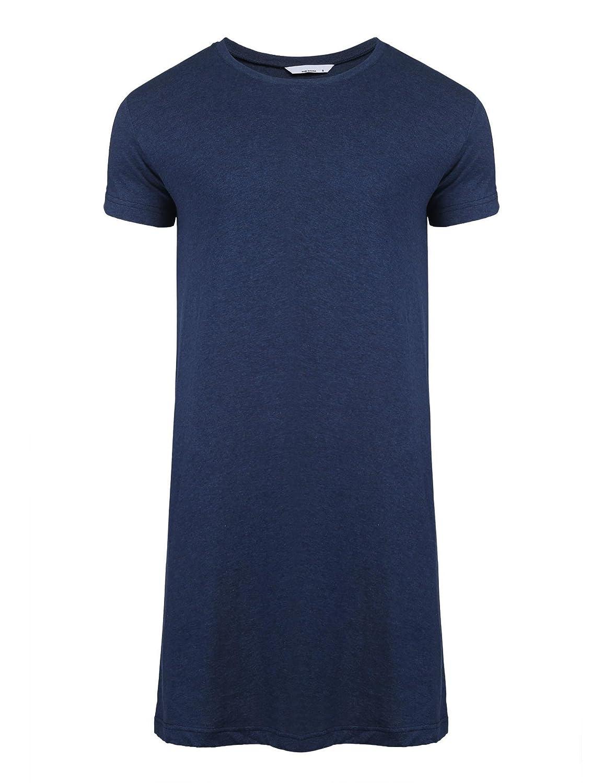 Skylin Cotton Sleep Shirt Men V-Neck Nightshirts Short Sleeve Henley Shirt Lounge Sleepwear M-XXXL SAMV007058