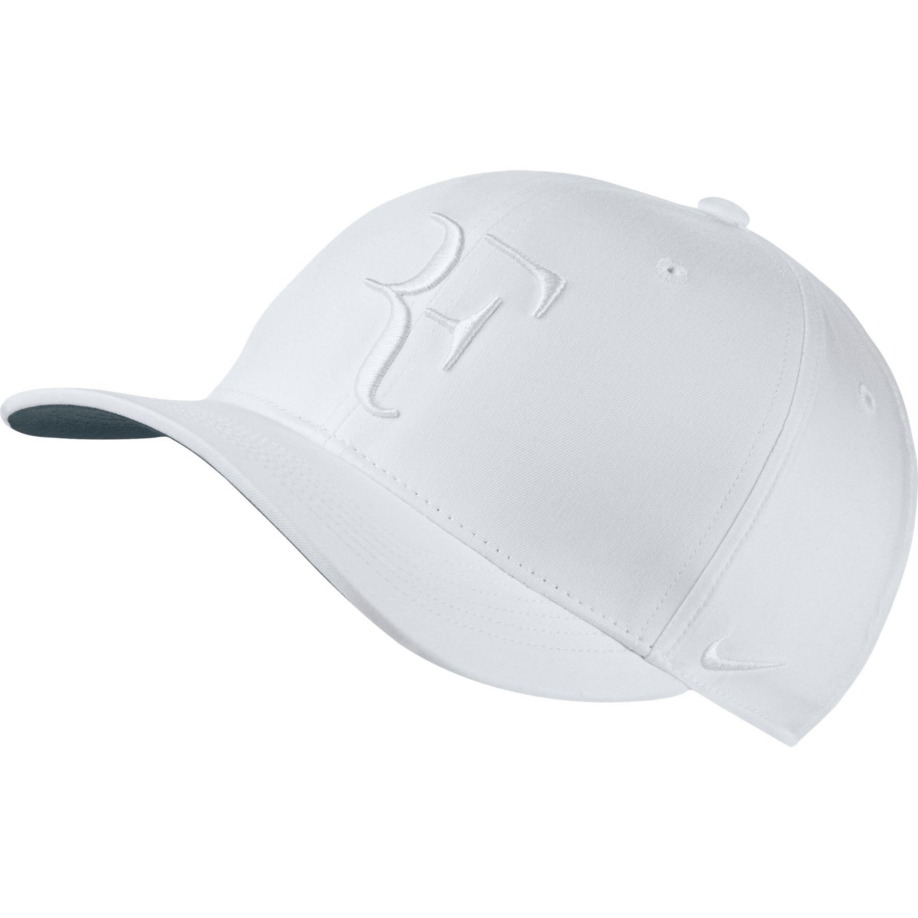NIKE Mens Roger Federer RF Classic 99 Aerobill Tennis Hat White White d6d398c2f15