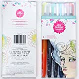 American Crafts Sun Bleached Jane Davenport Mixed Media 2 Mermaid Markers 6/Pkg
