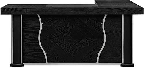 Pierce Black Oak Modern Desk