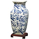 China Furniture Online Porcelain Ming Vase, Blue and White Chinoiserie
