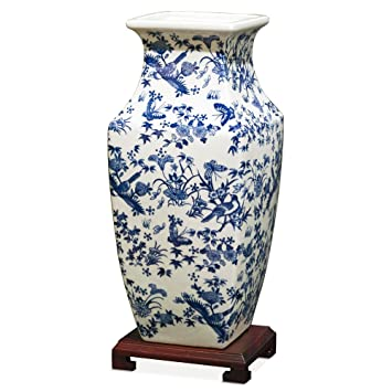 china furniture online porcelain ming vase blue and white chinoiserie - Ming Vase