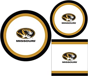 Missouri Tigers Party Supply Pack - Bundle Includes Paper Plates and Napkins for 10 Guests