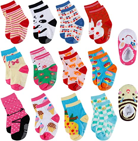 5-Pack set for 1-3 Year Baby Anti Slip Cloud Picture Baby Socks
