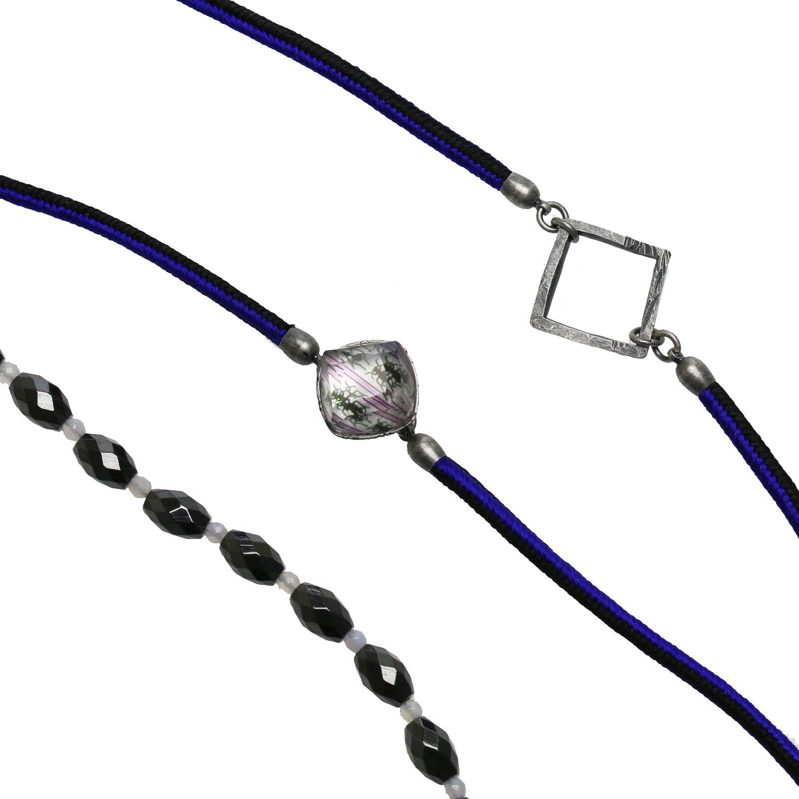 Tamarusan Glasses Code Purple Hanumyo Hematite Magnetically Braided Braid