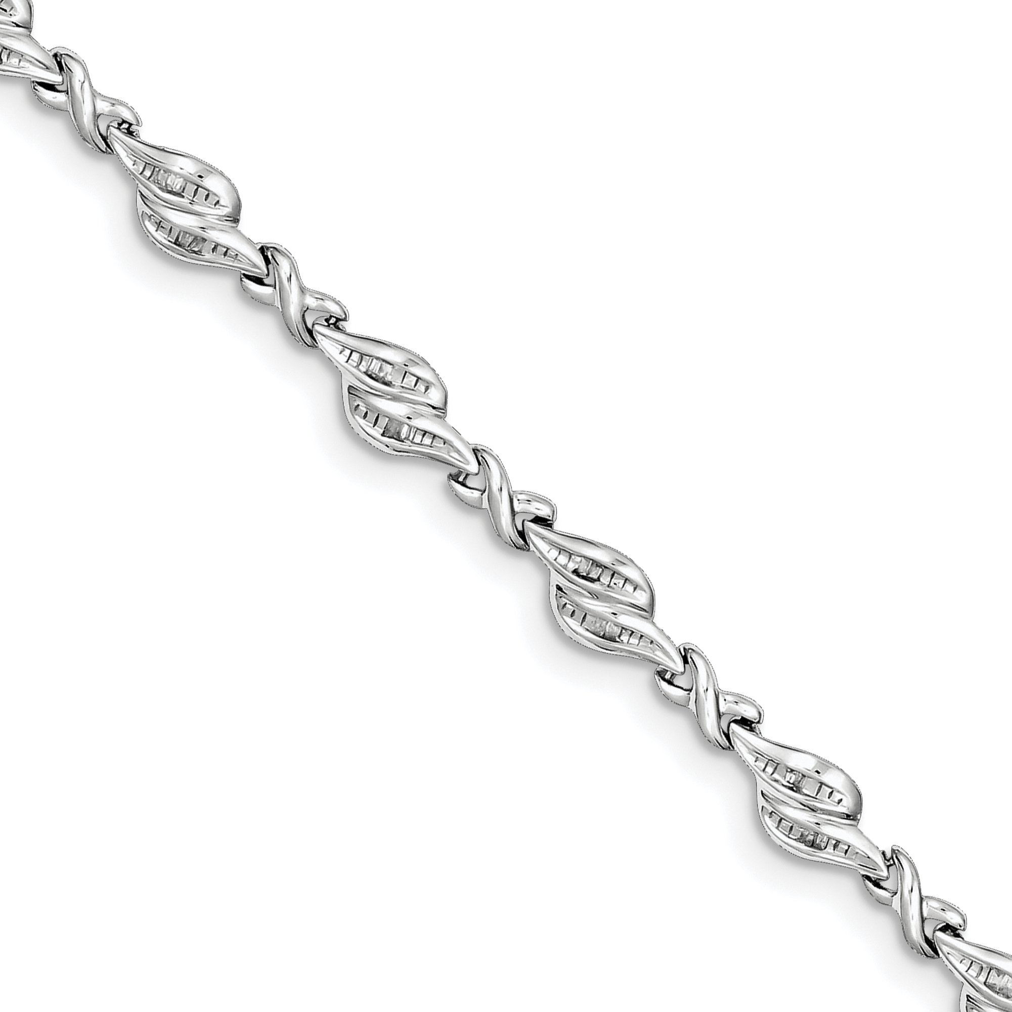 ICE CARATS 925 Sterling Silver Diamond Bracelet 7 Inch Fine Jewelry Gift Set For Women Heart