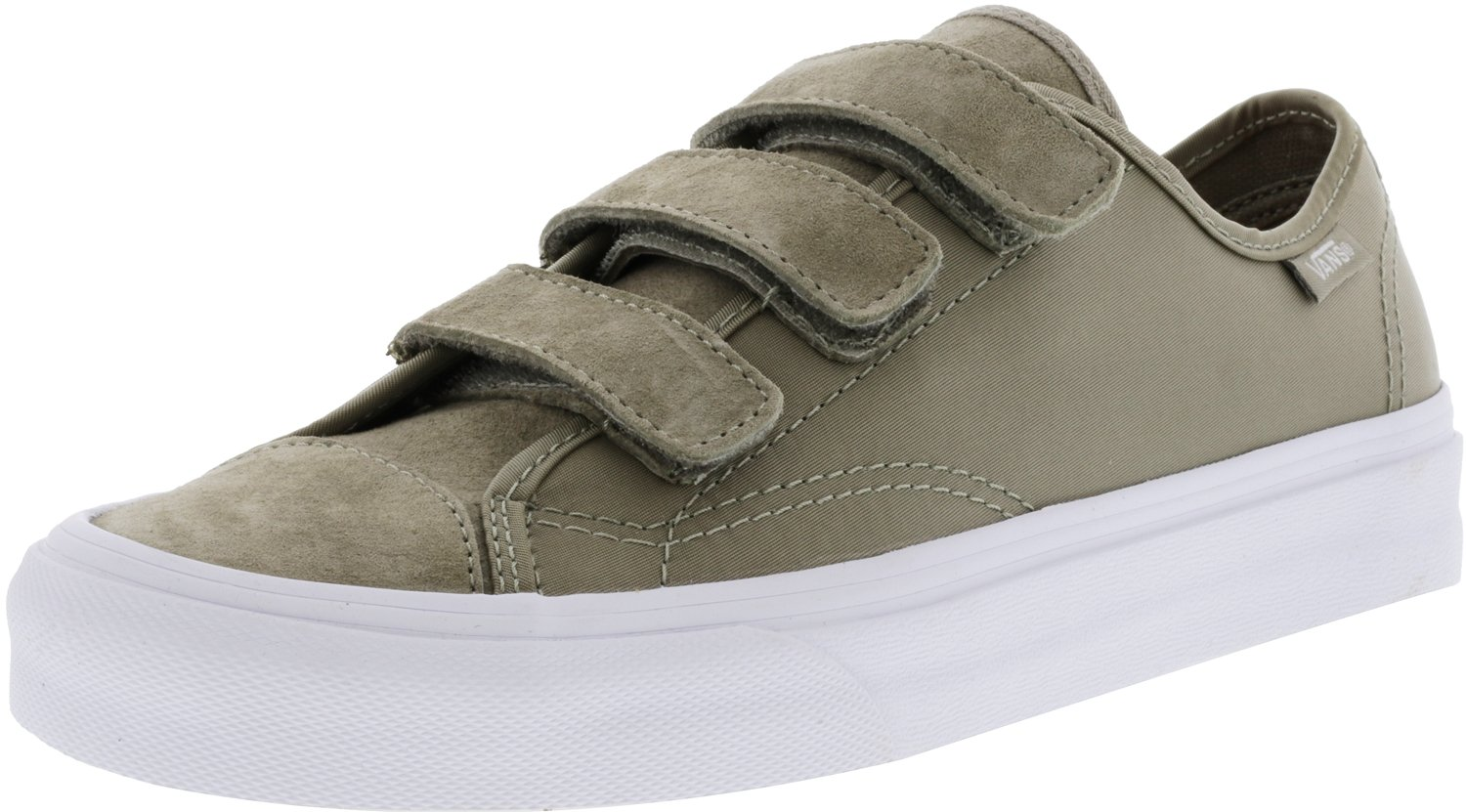 Vans Style 23 V Boom Silver Sage/True White Ankle-High Fabric Skateboarding Shoe - 9.5M 8M