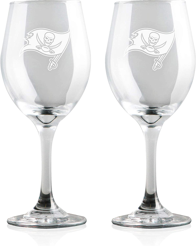 Duck House NFL Wine Glasses | Premium Glassware | Lead-Free | BPA-Free | 12oz | Set of 2