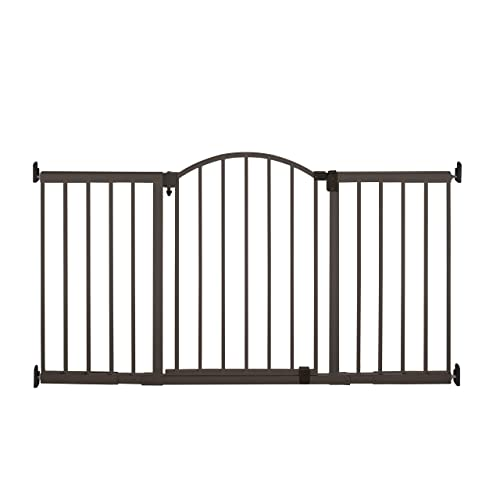 Summer Metal Expansion 6-Foot-Wide Extra Tall Walk-Thru Baby Gate, Bronze Finish 36 Tall, Fits Openings of 44 to 72 Wide, Baby and Pet Gate for Extra Wide Doorways