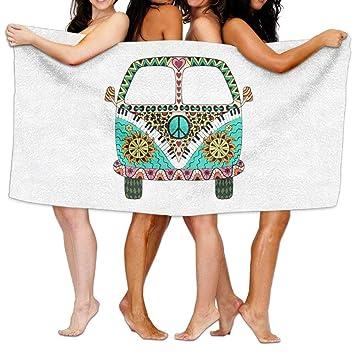 No Soy Como Tu Toallas de Playa baño Hippie Vintage Car Mini Bath Towel Adult Microfiber Towel 31 X 51 Inch Bath Sheet: Amazon.es: Hogar