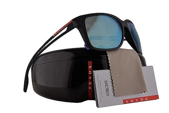 00379f075c3 Prada PS03TS Sunglasses Matte Black w Grey Gradient Mirror Lens 59mm 1BO140  SPS03T PS 03TS SPS 03T  Amazon.co.uk  Clothing