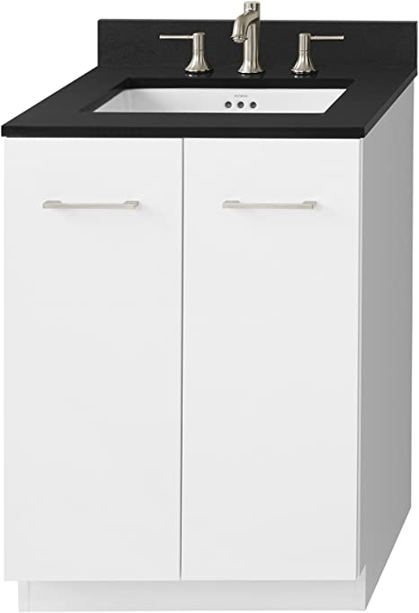 Amazon Com Ronbow Essentials Arden 24 Inch Eco Friendly Bathroom Vanity Cabinet Base With Soft Close Function And Full Extension Drawers In Glossy White Finish 091024 E23 Kitchen Dining