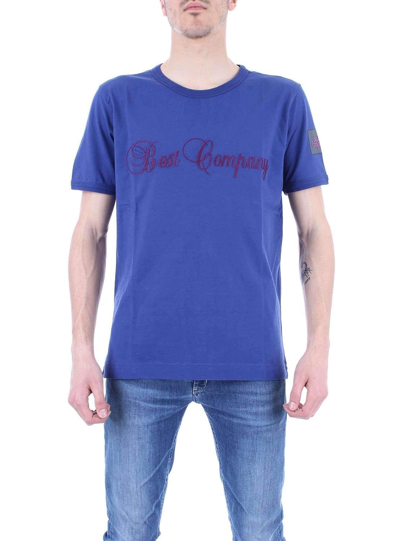 L BEST COMPANY Luxury mode Homme 6920360416 Bleu T-Shirt   Printemps été 19