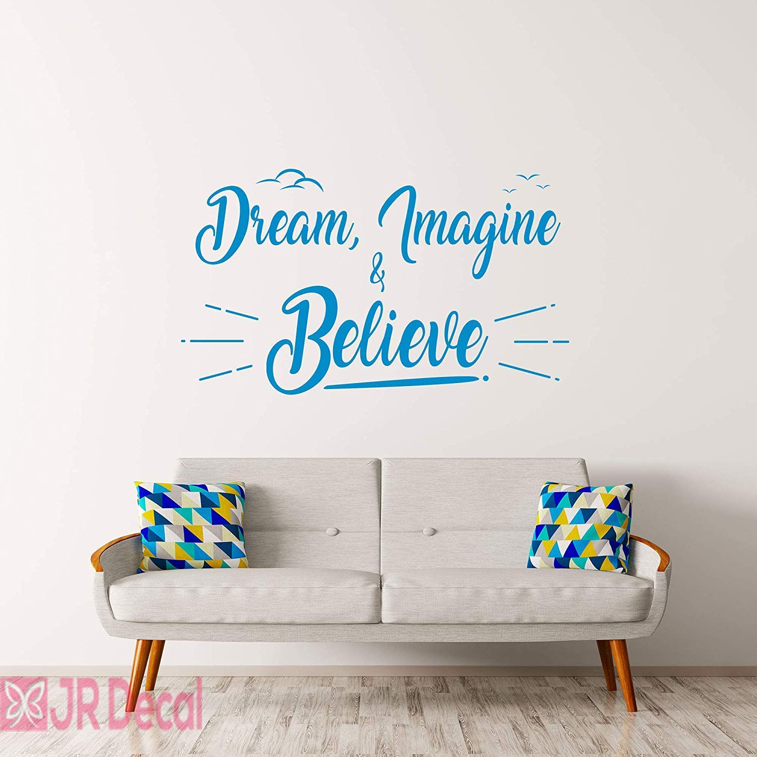 Achieve Wall Sticker Inspiring Quote For Kid Room Decoration Imagine Quote Wall Decal Children Quote Decor CG1575 Believe Wall Decal