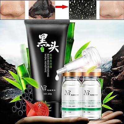 3 Steps Blackhead Removal Set, Malloom Deep Cleansing Peel Off Black Mud Facial Mask