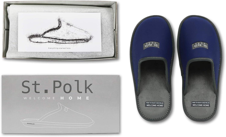 Chaussons Confortables Respirantes et moelleuses /à l/´int/érieur Polk Chausson Femmes et pour Homme r/ésistantes Slippers Pantoufle pour l/´/ét/é et Hiver St