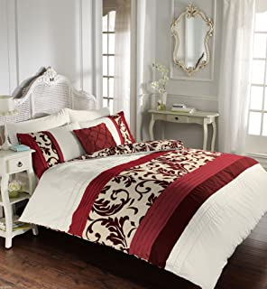 Luxury Duvet Cover King Size Kingsize With Pillowcases Quilt Bedding Set  Reversible Poly Cotton , Scroll