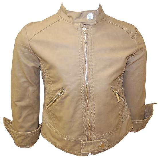 596e7bbe5 mayoral - Leather jacket girl leatherette, brown - 110braun: Amazon.co.uk:  Clothing
