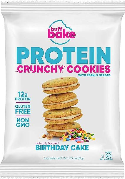 Outstanding Amazon Com Buff Bake Protein Sandwich Cookie Birthday Cake Funny Birthday Cards Online Aeocydamsfinfo