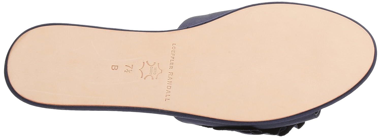Loeffler Randall Women's 6 Rey-Sat Slide Sandal B077CBWQL6 6 Women's B(M) US|Eclipse 520e61