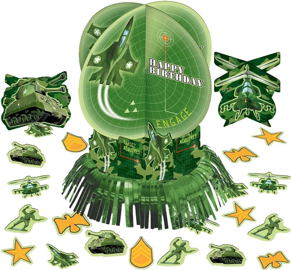 Amazon Com Amscan Military Camouflage Table Decorating Kit 23pc Toys Games