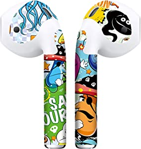 APSkins 2 Piece Printed Skin Wraps Compatible with Apple Airpods – Earpods Stickers & Vinyl Protective Decal for Protection & Customization - Apple Airpods Accessories (Graffiti)