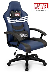 Neo Chair Licensed Marvel Avengers Gaming High End Ergonomic Neck Lumbar Support Armrests Reclining and Tilting Computer Desk Office Executive Leather Racing
