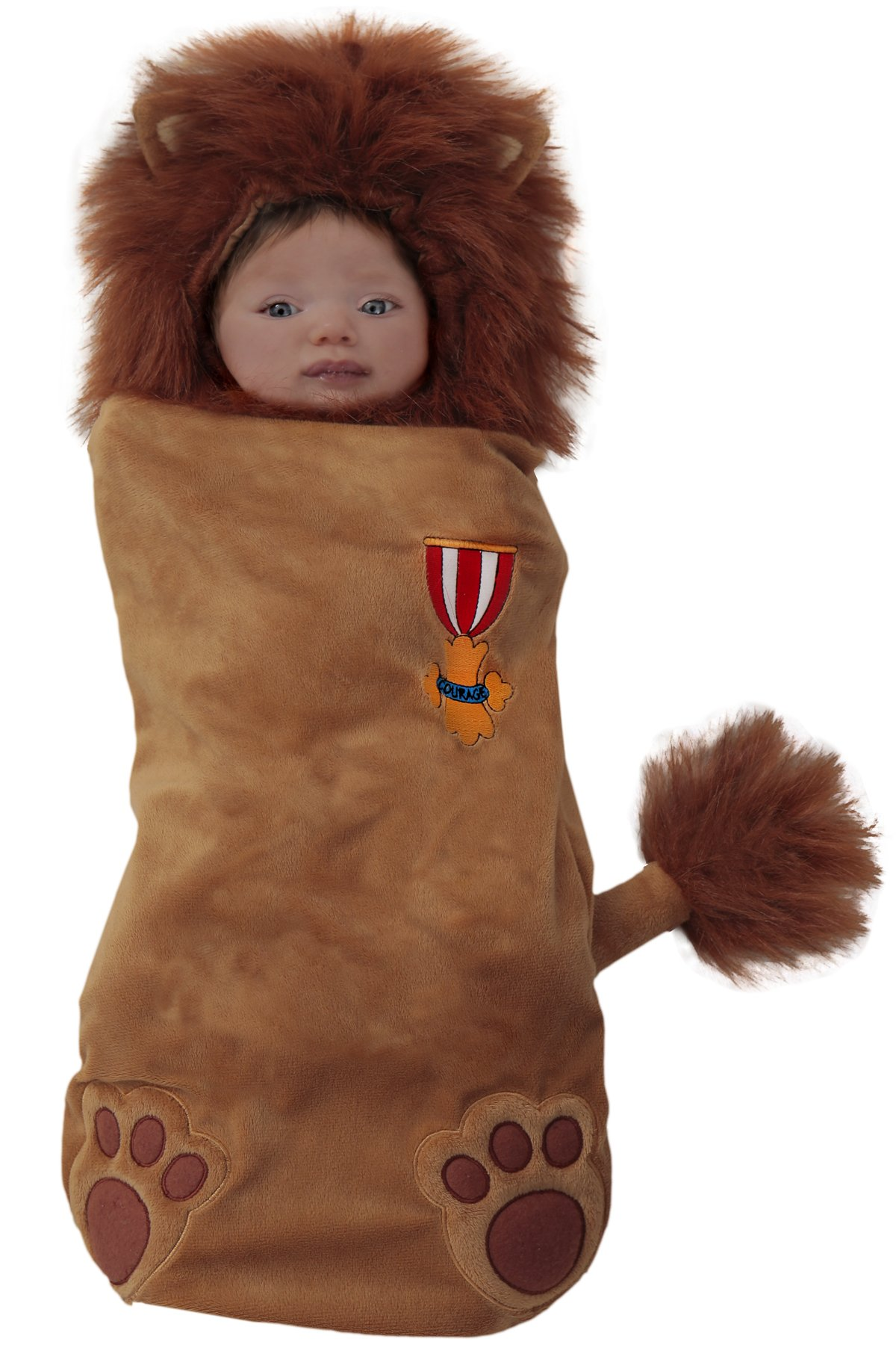 Princess Paradise Baby's The Wizard of oz Deluxe Cowardly Lion Swaddle Costume, As Shown, 0/3M