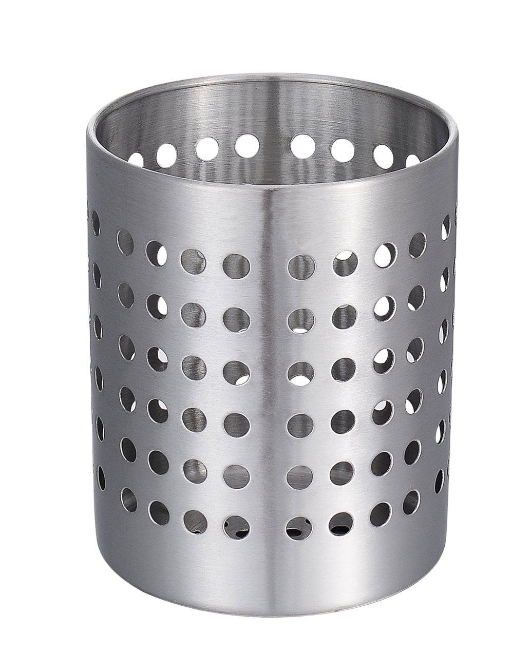 KSENDALO Utensil Silverware Holder, Stainless Flatware Organizer, Drying Holder for Kitchen Home Office, Diameter 4.72''