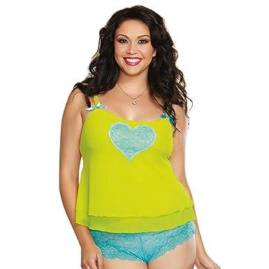 4cf2f6e61 Amazon.com  Dreamgirl Women s Plus-Size Sheer Stretch Mesh Camisole ...