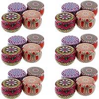 HEALLILY 24 Piezas de latas para Hacer Velas