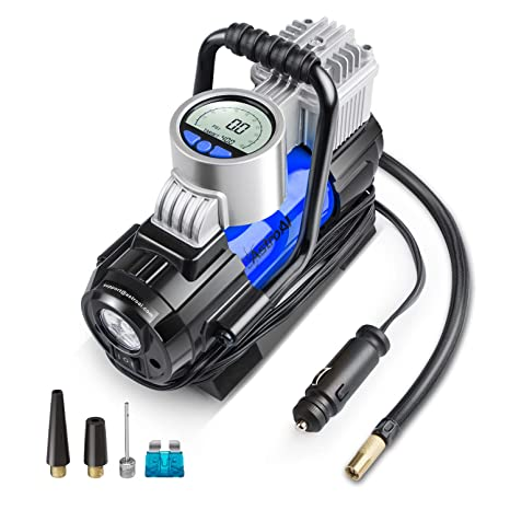 AstroAI Portable Air Compressor Pump, Digital Tire Inflator 12V DC Electric Gauge with Larger Air