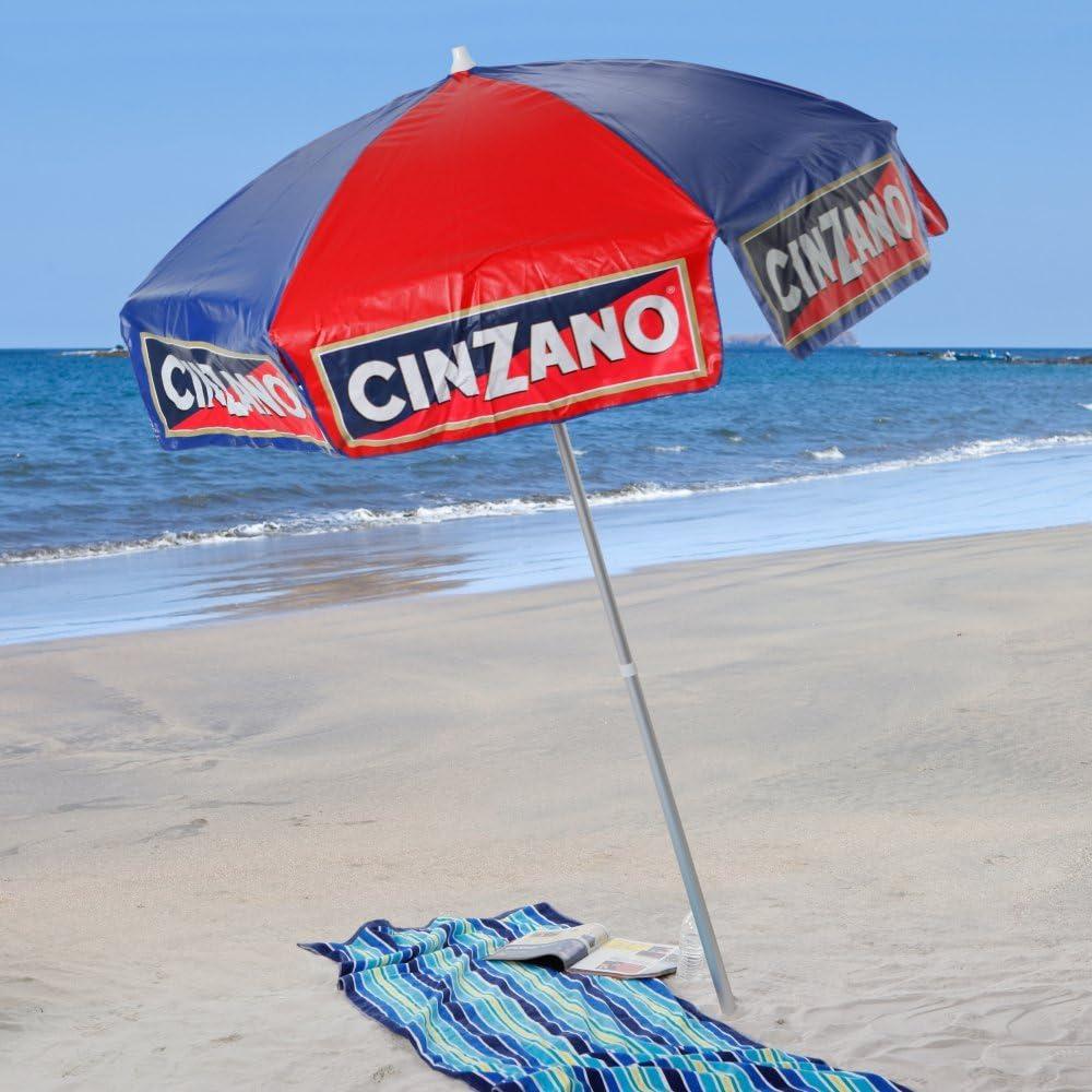 Heininger 1379 Cinzano Rojo y Azul 6 de Playa Polo Vinilo Paraguas: Amazon.es: Coche y moto