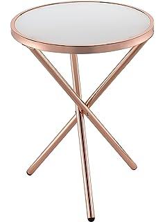 Amazoncom Uttermost Henzler Mirrored Glass Coffee Table Kitchen - Uttermost henzler coffee table