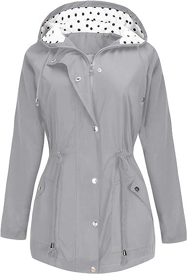 CURLBIUTY Women Lightweight Waterproof Jacket Active Outdoor Hooded Raincoat