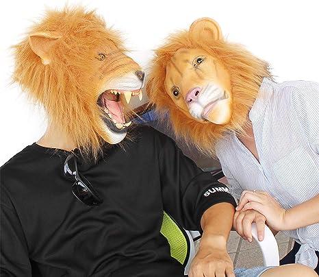 Dress Up America Costume effrayant de t/ête de lion en peluche effrayant
