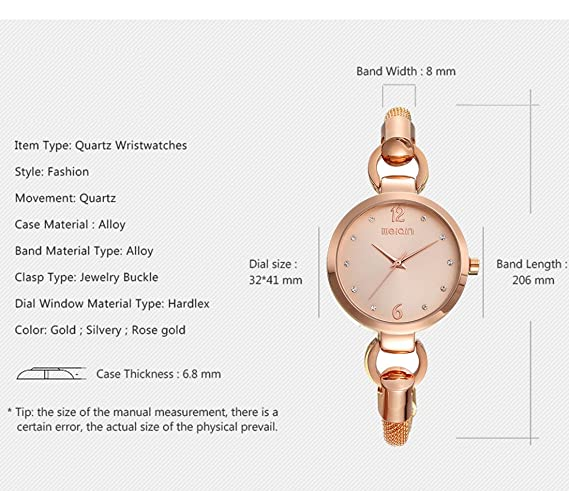 Amazon.com: Sheli New Design Blush Acetate Fashion Women Waterproof Montre Femme: Watches