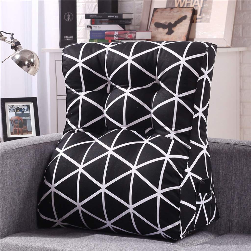 LILISHANGPU Lil Multi-Function Sofa Triangle Cushion, Lathe Head Large Back Bed Cushion/Cotton Canvas Hold Pillow/Removable and Washable (Color : 10, Size : 4555cm) by LILISHANGPU (Image #1)