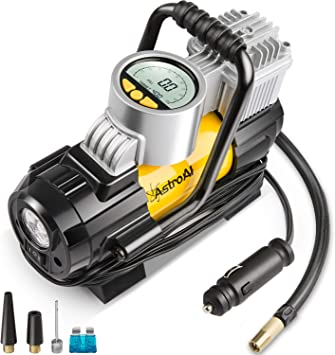 Deluxe 12V 120W 100PSI Electric Vehicle Tyre Air Pump Compressor Gauge