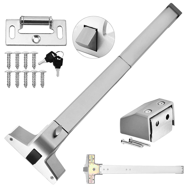 Door Push Bar Panic Exit Device28''-36'' Aluminum Commercial Emergency Exit Bar Panic Exit Device Suitable for Wood Metal Door (Push Bar)