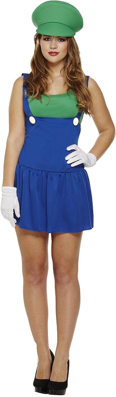 Ladies Luigi Green Plumber Outfit